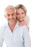 Fermez-vous vers le haut du portrait des couples mûrs heureux Images stock