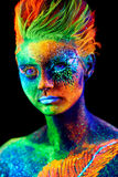 Fermez-vous vers le haut du portrait UV Image stock