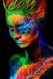 Fermez-vous vers le haut du portrait UV Image libre de droits