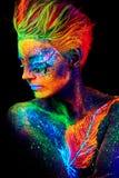 Fermez-vous vers le haut du portrait UV Photographie stock libre de droits