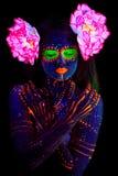 Fermez-vous vers le haut du portrait UV Photo libre de droits