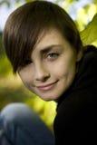 Fermez-vous vers le haut du portret de la jeune fille Images libres de droits