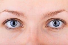 Fermez-vous vers le haut du projectile des yeux de womans Image stock