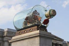 Fermez-vous vers le haut du quatrième plinth au grand dos de Trafalgar Image stock