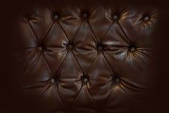 Fermez-vous vers le haut du rétro style de Chesterfield, textile de capitone Images stock