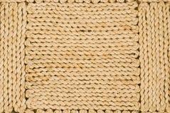 Fermez-vous vers le haut du revêtement de sol de sisal Photo libre de droits