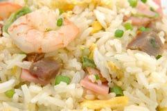 Fermez-vous vers le haut du riz frit Images libres de droits