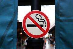 Fermez-vous vers le haut du signe non-fumeurs Images stock