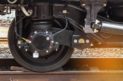 Fermez-vous vers le haut du système moderne de train de roue Photos libres de droits