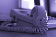 Fermez-vous vers le haut du téléphone d'affaires Photos libres de droits