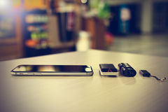 Fermez-vous vers le haut du téléphone intelligent Photos stock