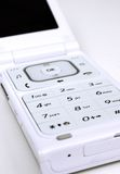 Fermez-vous vers le haut du téléphone portable moderne images libres de droits