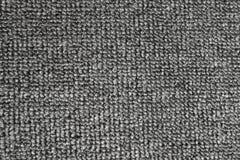 Fermez-vous vers le haut du tapis gris La vue à partir du dessus voient les détails clairs Image stock