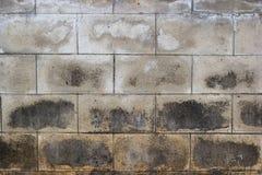 Fermez-vous vers le haut du vieux fond de texture de modèle de mur en béton images stock