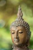 Fermez-vous vers le haut du visage de Bouddha Photos stock