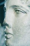 Fermez-vous vers le haut du visage de statue de marbre Photos libres de droits