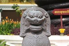 Fermez-vous vers le haut du visage de statue de Lion image libre de droits