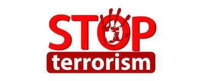 Fermi il concetto del terrorismo Illustrazione Fotografia Stock