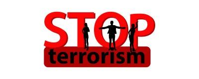 Fermi il concetto del terrorismo Illustrazione Immagini Stock Libere da Diritti