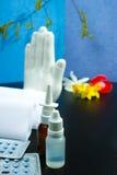 Fermi il concetto di allergia, il polline stagionale e l'allergia del fiore, erba medica Fotografie Stock