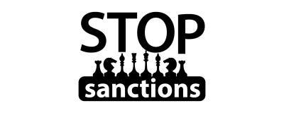 Fermi il concetto di sanzioni logo dell'illustrazione Immagine Stock