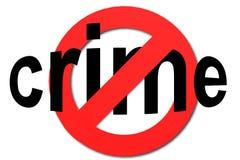 Fermi il crimine firmano dentro il rosso Immagini Stock