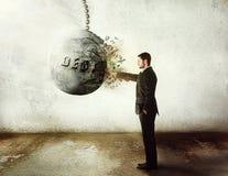 Fermi il debito! Fotografie Stock