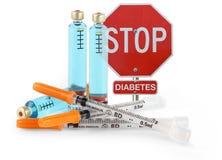 Fermi il diabete fotografia stock libera da diritti