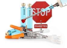 Fermi il diabete Fotografia Stock