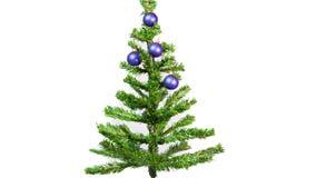 Fermi il moto, palle del ` s del nuovo anno su un albero del nuovo anno stock footage
