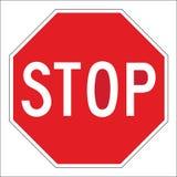 Fermi il segnale stradale fotografia stock libera da diritti