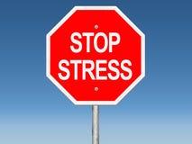 Fermi il segnale stradale di sforzo Immagine Stock