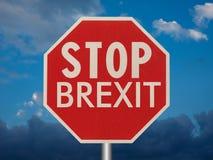 fermi il segno del brexit Fotografia Stock