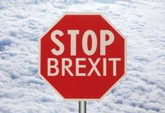 fermi il segno del brexit Fotografie Stock