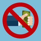 Fermi il segno della corruzione Fotografie Stock Libere da Diritti