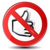 Fermi il segno GIUSTO Fotografia Stock Libera da Diritti