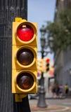 Fermi il semaforo Immagine Stock