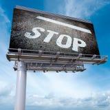 Fermi il tabellone per le affissioni Fotografia Stock Libera da Diritti