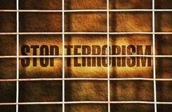 Fermi il terrorismo fotografia stock
