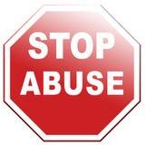 Fermi l'abuso immagini stock