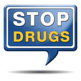 Fermi l'abuso di droga immagine stock