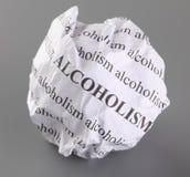 Fermi l'alcolismo Fotografia Stock Libera da Diritti