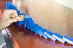 Fermi l'effetto di rischio di domino immagine stock libera da diritti