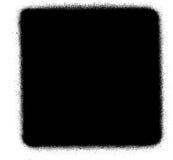 Fermi l'icona dello spruzzo dei graffiti di media nel nero sopra bianco Fotografie Stock