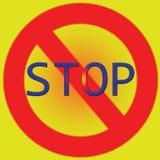 Fermi l'illustrazione rossa del manifesto e gialla luminosa Fotografie Stock Libere da Diritti
