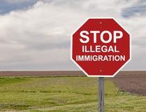 Fermi l'immigrazione clandestina Fotografia Stock Libera da Diritti