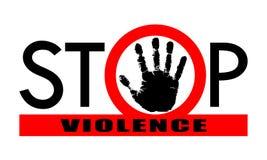 Fermi l'insegna di violenza royalty illustrazione gratis