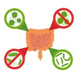 Fermi l'insieme del segno dei batteri royalty illustrazione gratis