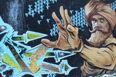 Fermi la cattiva cosa, graffito nello stile di urbano Fotografia Stock Libera da Diritti