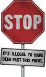 Fermi la sua birra illegale Immagini Stock
